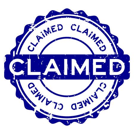 Grunge blau behauptete Wort runden Siegelstempel auf weißem Hintergrund Vektorgrafik