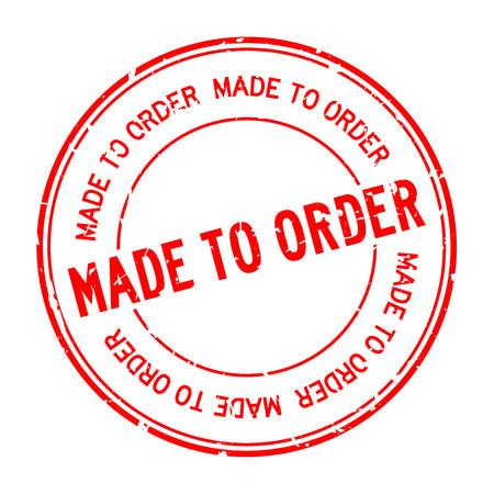 Grunge rouge fait sur commande mot joint en caoutchouc rond stamp sur fond blanc Vecteurs