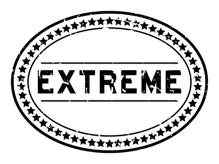 Grunge black extreme word oval rubber seal stamp on white background