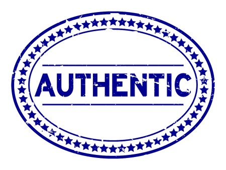 Timbre de joint en caoutchouc ovale authentique bleu grunge sur fond blanc