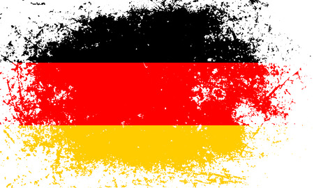 National flag of country Germany (Black, red, yellow color) with grunge textured background 일러스트