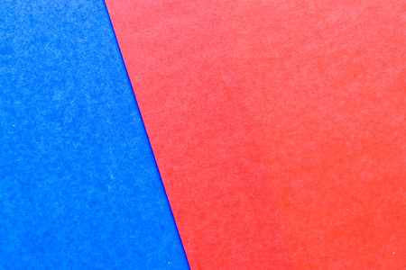 Abstract red and blue color paper textured background with copy space for design and decoration