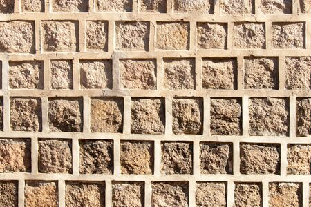 Concrete stone brick wall textured background Stockfoto