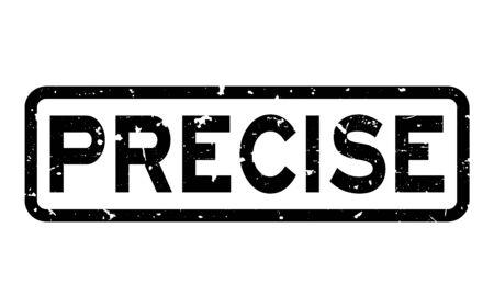 Grunge black preciser word square rubber seal stamp on white background
