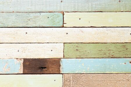 Multi color grunge old wood plate textured background for decoration