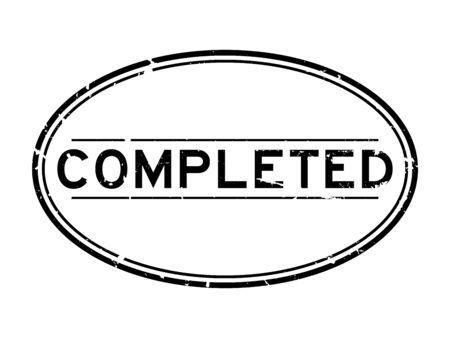 Grunge black completed word oval rubber seal stamp on white background Illustration