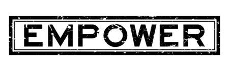 Grunge black empower word rubber seal stamp on white background Ilustração
