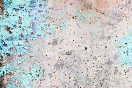 Concrete textured background with crack of blue color painting Banque d'images - 133063489