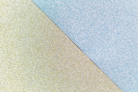 Gold and blue color glitter paper textured background