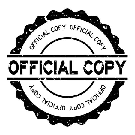Grunge black official copy word round rubber seal stamp on white background Иллюстрация