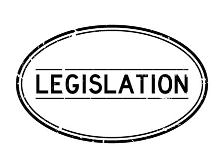 Grunge black legislation word oval rubber seal stamp on white background