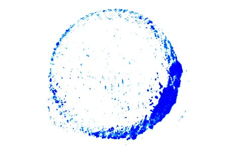 Blue color ink in round shape textured background as stamp or frame with copy space
