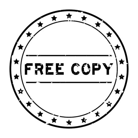 Grunge black free copy word round rubber seal stamp on white background Vectores