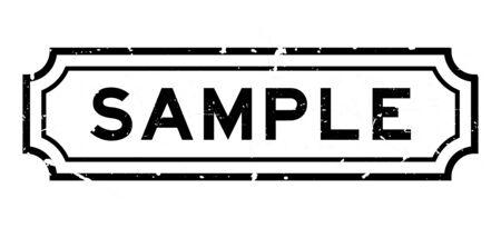 Grunge black sample word rubber business seal stamp on white background Stock Illustratie