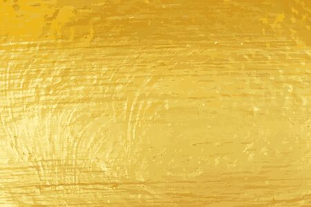 Gold color metal sheet textured background (vector)
