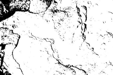 Grunge black and white texture background (Vector). Use for decoration, aging or old layer Stock Illustratie