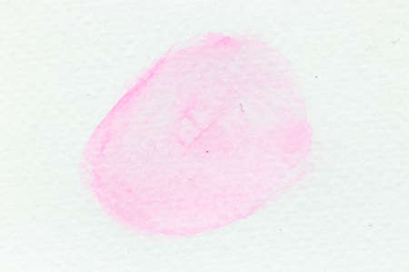Pink color watercolor handdrawing as brush or banner on white paper background Archivio Fotografico