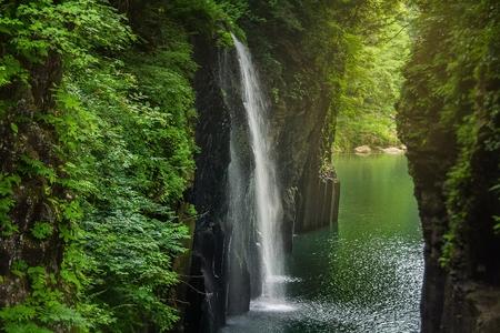 Takachiho gorge at Miyazaki , Japan