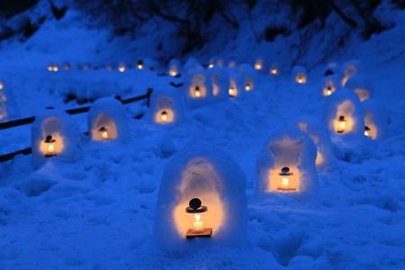 The Yunishigawa Kamakura Festival is held from late January to mid March (January 25 to March 9, 2014) photo