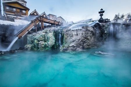 草津温泉は日本有数の温泉地の一つと大量のすべての病気が恋煩いを治すためと質の高い温泉水に恵まれています。 報道画像