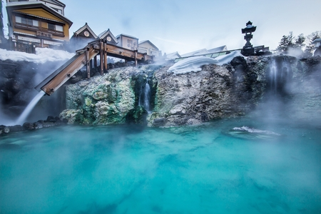 tourist resort: Kusatsu Onsen is one of Japan most famous hot spring resorts and is blessed with large volumes of high quality hot spring water said to cure every illness but lovesickness.