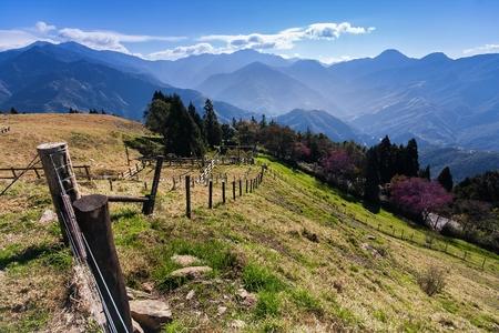 Een prachtige bergtop op Cingjing Farm, Taichung Taiwan