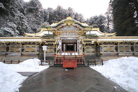 shinto: Nikko, Japan - UNESCO World Heritage Site. Part of Tosho-gu Shinto shrine