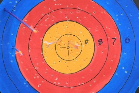 hit: arrow hit target