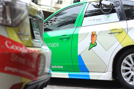 BANGKOK,THAILAND - JULY 16: A Google Maps car on view in central Bangkok as the internet giant announces the Thai capital has been added to its Street View utility on July 16,2013 in Bangkok,Thailand. Editorial