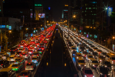 Bangkok with traffic jam Editorial