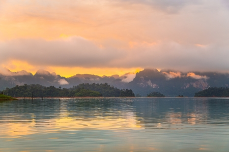 thani: Beautiful mountains and natural attractions in Ratchaprapha Dam at Khao Sok National Park Surat Thani Province Thailand.