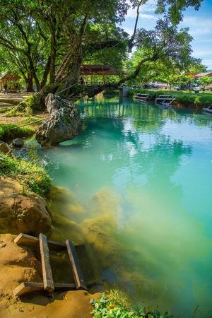 Blue Lagoon in Vang Vieng, Laos Stockfoto