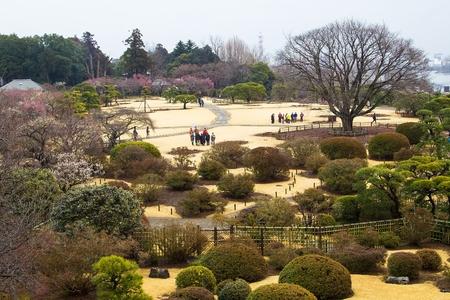 茨城県の偕楽園庭園日本します。 写真素材