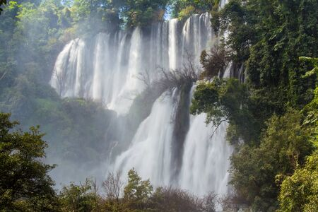 province: Thailands most impressive waterfall Thi Lo Su in Tak ProvinceThi Lo Su Waterfall Stock Photo