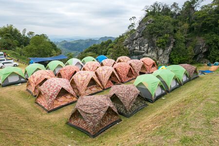 dow: Camping grounds Doi Samer Dow from National Park sri nan from nan province,Thailand Editorial