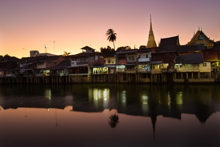 january 1: CHANTHABURI, THAILAND - JANUARY 1, 2016 - Old Town Chanthaboon Waterfront at Chanthaburi Province ,Thailand Editorial