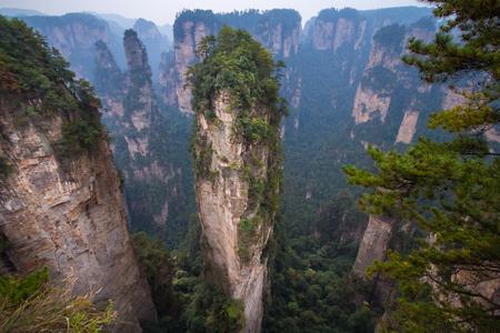 hunan: Zhangjiajie national park in China Hunan province