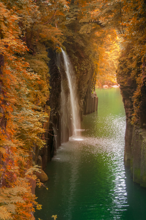 宮崎県の高千穂峡秋のシーズン