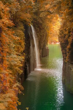 Takachiho gorge herfst seizoen in Miyazaki, Japan
