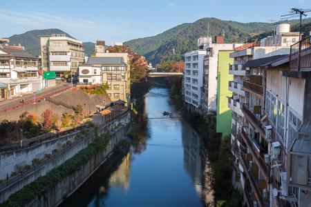 honshu: KITAKATA, JAPAN - OCTOBER 25, 2016 : Kitakata is a city located in Fukushima Prefecture, in northern Honshu, Japan.