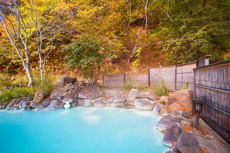 日本の野外温泉 (温泉) 写真素材