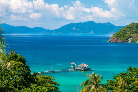trat: Koh Mak Island Viewpoint at Trat in Thailand Summer Season