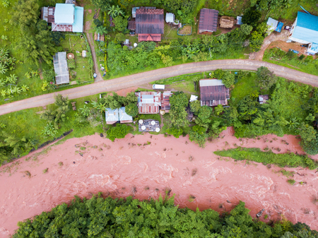 Birds Eye View at Oun I Mang Homestay in Bo Kluea District, Nan Province Banque d'images