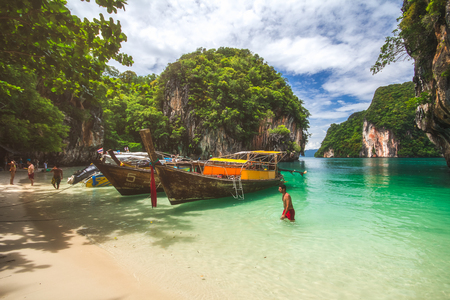 Thailand Beach Summer season at Krabi , Thailand