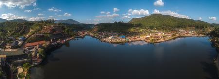 Ban Rak Thai Village near lake, a Chinese settlement in Pai, Mae Hong Son ,Thailand.