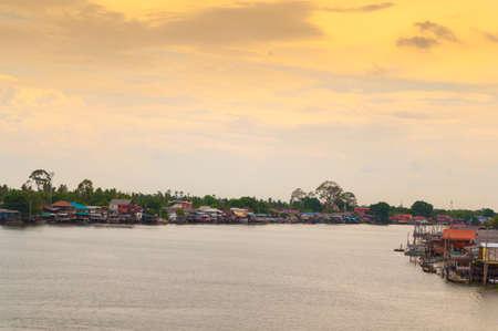 chao phraya river: Chao Phraya River Stock Photo
