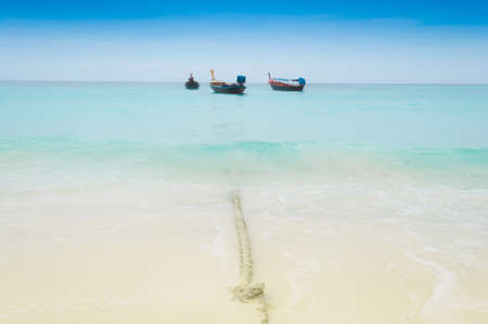 sandbank: fishing boat