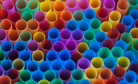 straws: Colorful drink straws.