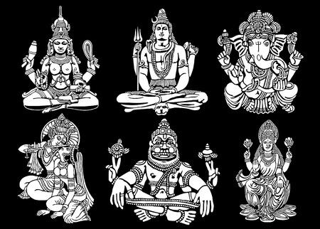 Hindu Gods vector