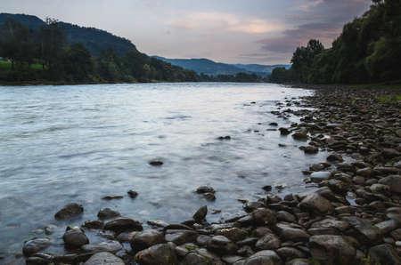 Riverbank at sunset